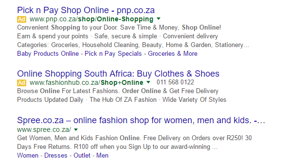 Pick n pay online shopping clothing